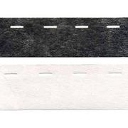 Корсаж клеевой 40 мм 10-40-10 уп. 200 м  бел., черн.