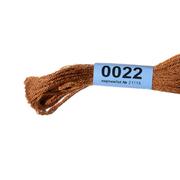 Мулине х/б 8 м Гамма, 0022 св.-коричневый