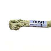 Мулине х/б 8 м Гамма, 0091 св. серо-зеленый