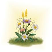 Набор для вышивания Матренин Посад 7025 «Ромашки с цветочками» (ленты,бисер) 16*18 см