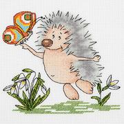 Набор для вышивания Кларт 8-220 «Весенний ежик» 15*16 см