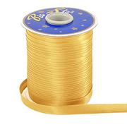 Косая бейка атлас. 15 мм (уп. 132 м) 6024Б т. золото