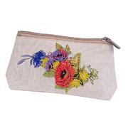 Набор для вышивания Матренин Посад 8541 косметичка «Маковый букет» 12*21 см