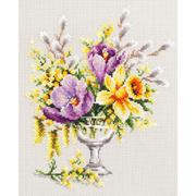 Набор для вышивания Чудесная Игла  №100-002 «Весенний букетик» 20*23 см