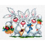 Набор для вышивания Чудесная Игла №18-88 «Любим повеселиться» 19*15 см