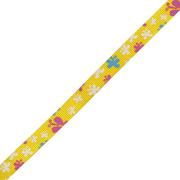 Лента репсовая 10 мм с рис. «Бабочка двойная» (уп. 23 м.) 132 желтый
