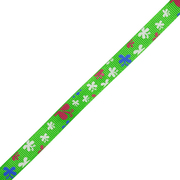 Лента репсовая 10 мм с рис. «Бабочка двойная» (уп. 23 м.) 137 зеленый