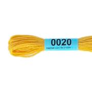 Мулине х/б 8 м Гамма, 0020 розово-желтый