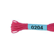 Мулине х/б 8 м Гамма, 0204 ярко-розовый
