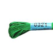 Мулине х/б 8 м Гамма, 0321 ярко-зеленый
