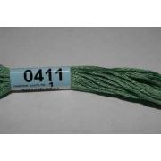 Мулине х/б 8 м Гамма, 0411 св.-зеленый