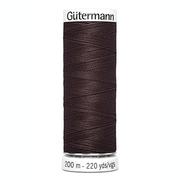 Нитки п/э GUTERMAN №40 200 м 682 т. коричневый*