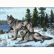 Набор для вышивания Овен №567 «Волки» 40*30 см