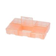 Контейнер Гамма Т-178 пласт. 9*6*1,8 см оранжевый/прозрачный