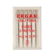 Иглы быт. маш. ORGAN супер стрейч №75 (уп. 5 шт.)