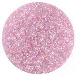 Бисер Астра (уп. 20 г) №0209 св.-розовый с цветным радужным центром