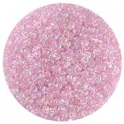 Астра бисер (уп. 20 г) №0209 св.-розовый с цветным радужным центром