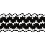 Рюши 30 мм 1AS-162  эластич. двухсторон. (уп 22,86м) черный