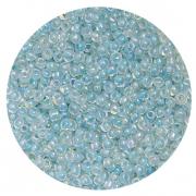 Бисер Астра (уп. 20 г) №0211 голубой с цветным радужным центром
