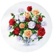Набор для вышивания бисером ЧМ М-165  «Розы» 43*43 см