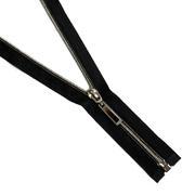 Молния Т7 декор. спираль 1-бег. 55 см 264551 т. никель/черн.