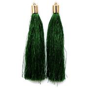 Кисти цветные декоративные Астра уп.2 шт.  7129 зелёный
