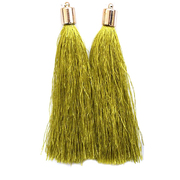 Кисти цветные декоративные Астра уп.2 шт.  7204 оливковый