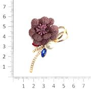 Брошь BR 891 «Цветок» красный