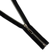 Молния Т7 декор. спираль 1-бег. 18 см никель/черн. «капля»