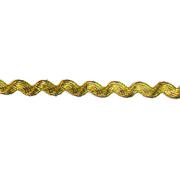 Тесьма вьюнчик 5 мм (рул. 20 м)   золотой/голограмма