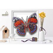 Набор для вышивания бисером Благовест 3D Б-016 «Бабочка Agrias Glaudina» 11*12,5 см