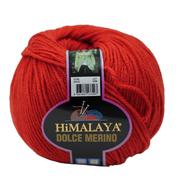 Пряжа Дольче Мерино (Himalaya Dolce Merino) 100 г/ 230 м 59425 красный