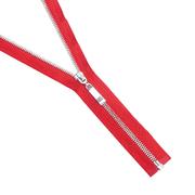 Молния Т5 СПб. 70 см никель/ 519 красный 15270
