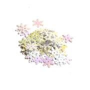Пайетки «фигурки» Астра снежинки 13 мм (уп. 10 г) 319 сирен.-мята