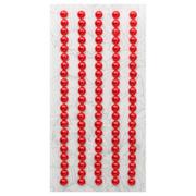 Полубусы клеевые  5 мм жемчуг 7704131 (уп. 84 шт.) 01z красный