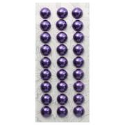Полубусы клеевые 10 мм жемчуг 7704129 (уп. 27 шт.) 48z фиолетовый