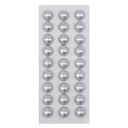 Полубусы клеевые 10 мм жемчуг 7704129 (уп. 27 шт.) 57z серебро