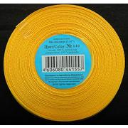 Лента атласная 6 мм (рул. 33 м) №140Г т.-желт.