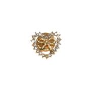 Брошь BR s-356 «Бантик в сердце» золото