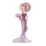 Рисунок для вышивания бисером Каролинка КБЛ-3042 «Дама с веером» 22*37 см