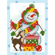 Алмазная мозаика Фрея ALVS-018 «Снеговик» 14*19,5см