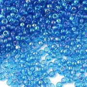 Бисер Preciosa Чехия (уп. 5 г) 61150 голубой прозрачный радужный