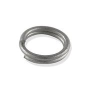 Кольцо для бус Астра ОТН1526 соединительное двойное  0,8*10 мм серебро