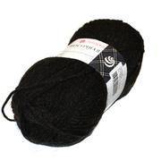 Пряжа Носочная шерсть, 100 г / 200 м, 002 чёрный