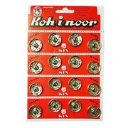 Кнопки пришивные Гамма металл №8 21 мм (уп. 16 шт.) никель