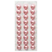 Полубусы клеевые 10 мм жемчуг 7704129 (уп. 27 шт.) 42z гр. розовый