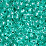 Бисер Preciosa Чехия (уп. 5 г) 08258 зеленый прозрачный с серебр. центром