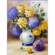 Алмазная мозаика АЖ-1508 «Розы и гортензии » 30*40 см