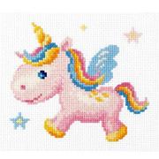 Набор для вышивания Чудесная Игла №10-35 «Радужный единорожек» 15*14 см