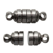 Застежка для бус Астра магнит 16*6 мм  уп.2 шт.7728495 т.никель